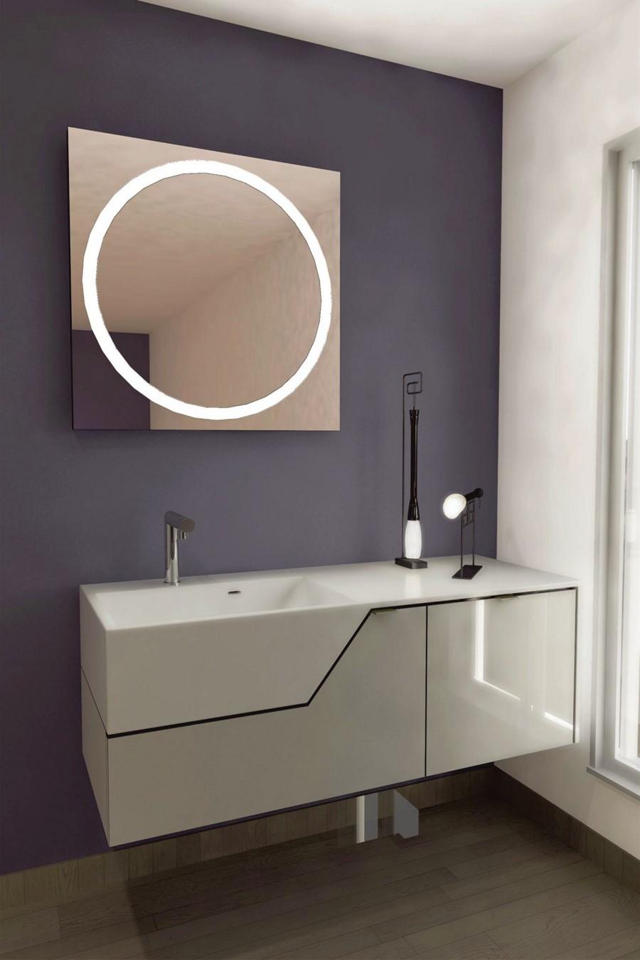 Espejo con luz led integrada mod 111 gldesign for Espejos con iluminacion