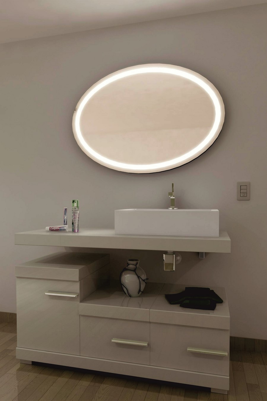 espejo con luz led integrada mod 112 gldesign