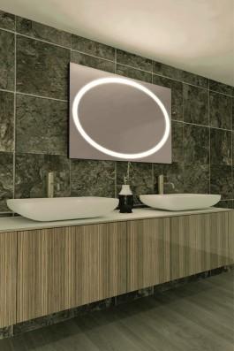 espejo con luz led integrada mod