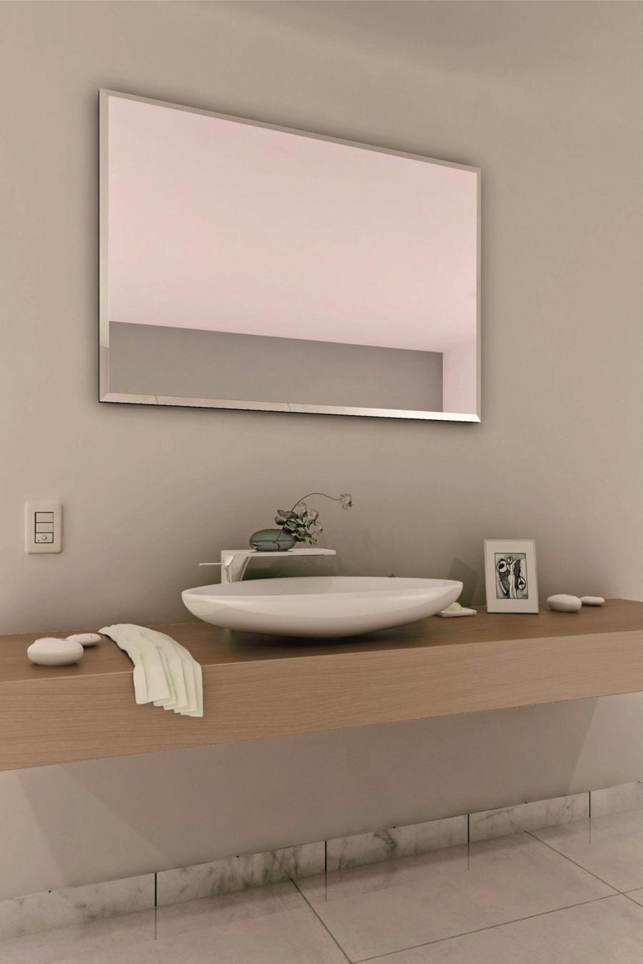 Espejo biselado mod 127 gldesign espejos con luz for Espejos biselados para banos